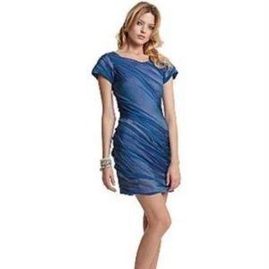 Diane Von Furstenberg DVF Blue Silk Erosa Dress